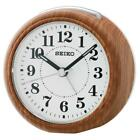 Seiko QHE157B Bedside Beep Alarm Clock with Snooze and Light - Wooden Finish