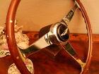 Aston Martin Vantage V8 Steering Wheel Wood with Rivets Hub Boss Horn Push NOS