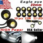 10 X White DC12V 9W Eagle Eye LED Daytime Running DRL Backup Light Car Auto Lamp