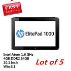 Lot 5 HP Elitepad 1000 G2 Tablet Intel Atom 1.6GHz 4GB 64GB Win 8.1 J5N61UTR#ABA