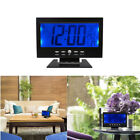 Digital Table Clock Calendar Temperature Humidity Alarm Timer Voice Activated