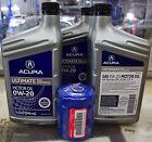 GENUINE Acura 0W-20 FULL SYN Motor Oil KIT w/ oil filter (5 quarts)