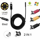 Hot 8mm 10M Endoscope USB Waterproof Borescope Inspection Camera For PC/AndroOE