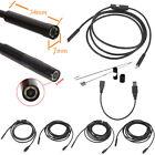 2/5/7/10/15m&5.5/7mm USB Waterproof Endoscope Borescope Snake Inspection CameOG