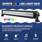 "5D 32"" 600W RGB CREE LED Light Bar Strobe Flashing For Polairs RZR 900 ATV UTV"