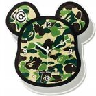 BAPE A Bathing Ape x Medicom Toy ABC Camo Bearbrick Wall Clock - Green