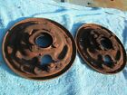 64 65 COMET FALCON FRONT MANUAL BRAKE BACKING PLATES RIGHT LEFT 1964 1965