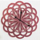 """Large Iron Art Flower Wall Clock Creative Design Watch Home Decor Silent 14"""""""