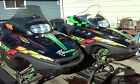 2001 Arctic Cat ZRT 800 and 600 triple snowmobiles with trailer