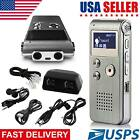 Rechargeable 8GB Digital Voice Recorder MP3 Player Sound 650hrs Steel Dictaphone