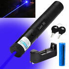 Military Blue Purple Laser Pointer 405nm Lazer Pen + 18650 Battery + Charger USA