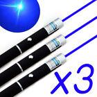 3X 405nm Visible beam Light Lazer Long Distance Blue Lazer Pointer Pen /W