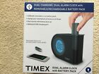 Timex T402 Dual Alarm Clock With USB Battery Pack