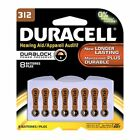 3 Pack Duracell 312 Button Cell Hearing Aid Battery 8 Count Each