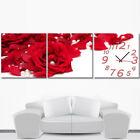 Large Set of 3 60CM*60CM Wall Clocks Botanical Wall Clock Painting Home Decor US
