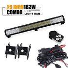 "25"" Led Work Light Bar+wiring kit Polaris RZR XP1000 Toyota Ford Chevrolet Acura"