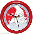 Coca-Cola® Polar Bear with Cub Musical Christmas Carols Sound Clock 8 inch