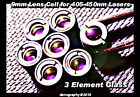 Replacement Glass 3 Element Laser Optic for 405- 445nm Lasers - 9mm Cell