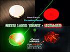 Blue + Green Laser Target 40mm Diameter - Glows Red when struck - with case
