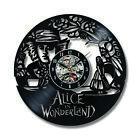 Record Wall Clock Vinyl Alice In Wonderland Hatter Home Decor Hanging Clock