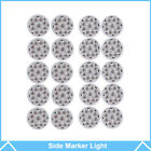 "20pcs 2"" Round Led Marker Light Clear/Amber 9LED with Flower Shape Trailer Light"