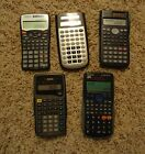 Mixed Lot of 5 Scientific Calculators TI Sharp Casio Texas Instruments 30XA FX