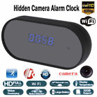 Wireless WiFi 1080P HD Hidden Camera Alarm Clock IR Night Vision Security Cam