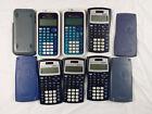 Texas Instruments Scientific Calculator Lot 6 ~ 30XIIS x4 & TI-34 Multiview x2