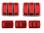 Pair Sequential 1965 1966 Ford Mustang LED Tail light Kit Gaskets Bezels Pigtail