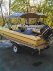 Arrowglass Cougar yellow speed boat with trailer and 65HP Mercury motor