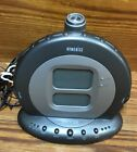 Homedics SS-5000 Sound Spa Projection Alarm Clock 6 Nature Sleep Sounds