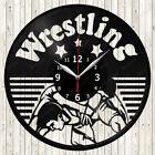 Wrestling Sport Vinyl Record Wall Clock Decor Handmade 1844