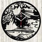 Yachting Vinyl Record Wall Clock Decor Handmade 1846