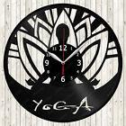 Yoga Vinyl Record Wall Clock Decor Handmade 1847