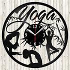 Yoga Vinyl Record Wall Clock Decor Handmade 1848