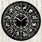 Zodiac Sign Vinyl Record Wall Clock Decor Handmade 1849