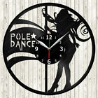 Pole Dance Vinyl Record Wall Clock Decor Handmade 1851