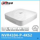 US Version Dahua NVR4104-P-4KS2 4CH NVR 4PoE 4K&H265 Lite Network Video Recorder