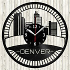 Denver Vinyl Record Wall Clock Decor Handmade 1951