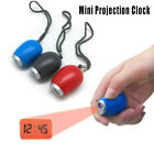 Digital Time Projection Clock Mini LED Watch Projector Flashlight Hanging Rope