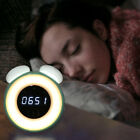 Portable Auto On Off Body Sensor Alarm Clock Night Light LED Bedside Table Lamp