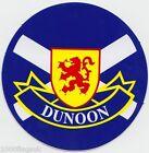 Dunoon Town Sticker with Scotland Flag design