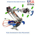 6DOF Mechanical Robotic Arm Clamp+Servos f/Robot Car Arduino SCM Unassembled US