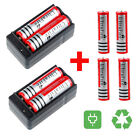USA Ultrafire 8x 3000mah 3.7V 18650 Rechargeable Li-ion Battery&2x Dual Charger