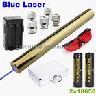 Blue Laser Pointer Laser Pen 5000LM Rechargeable Focusable Laser Torch 2x18650