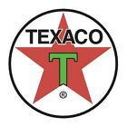 VINTAGE 1940s TEXACO GAS PUMP OIL CAN LOGO DECAL LABEL STICKER