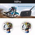 Bluetooth 1200M Motorcycle Accessories Headset Interphone V6Pro Helmet Intercom