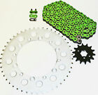 99-01 Yamaha WR400 F/03-14 WR450F Green Non-O Ring Chain and Sprocket 14/49 114L