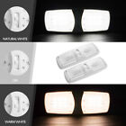 2x LED Interior RV dome lights ceiling Fixture replacement- Natural & Warm White