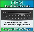 Peugeot 807 car stereo CD player Peugeot RD3 radio + FREE Vin Code and keys